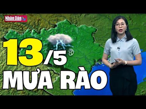 Dự báo thời tiết hôm nay và ngày mai 13/5   Dự báo thời tiết đêm nay mới nhất