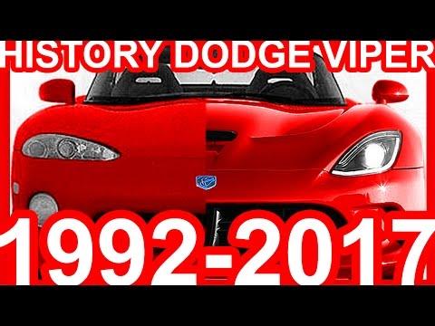 HISTORY Dodge Viper 1992-2017
