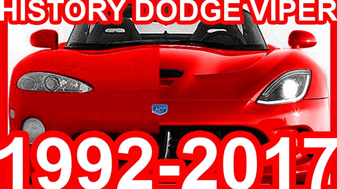 HISTORY Dodge Viper 1992-2017 - YouTube