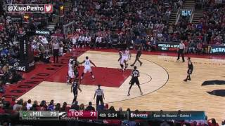 Milwaukee Bucks vs Toronto Raptors   Full Game Highlights  Game 1  April 15 2017  NBA Playoffs