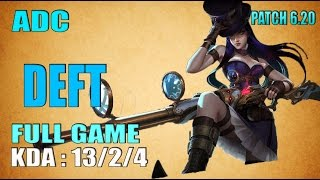 EDG Deft Caitlyn vs Jhin C9 Sneaky | ADC NA SoloQ - Full Game