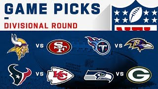 Divisional Round Game Picks | NFL 2019