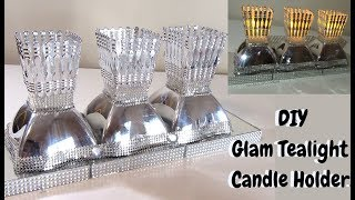 DIY DOLLARTREE GLAM TEALIGHT CANDLE HOLDER, DIY Home Decor 2019