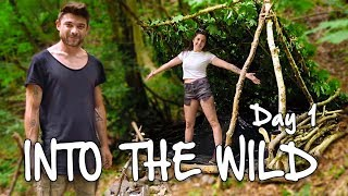 DAY 1 INTO THE WILD **WOODS SURVIVAL CHALLENGE**