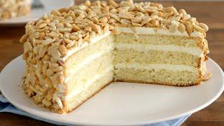 БЕЗУМНО вкусный и сочный Бисквитный торт с арахисом Подарочный торт Домашний торт по госту