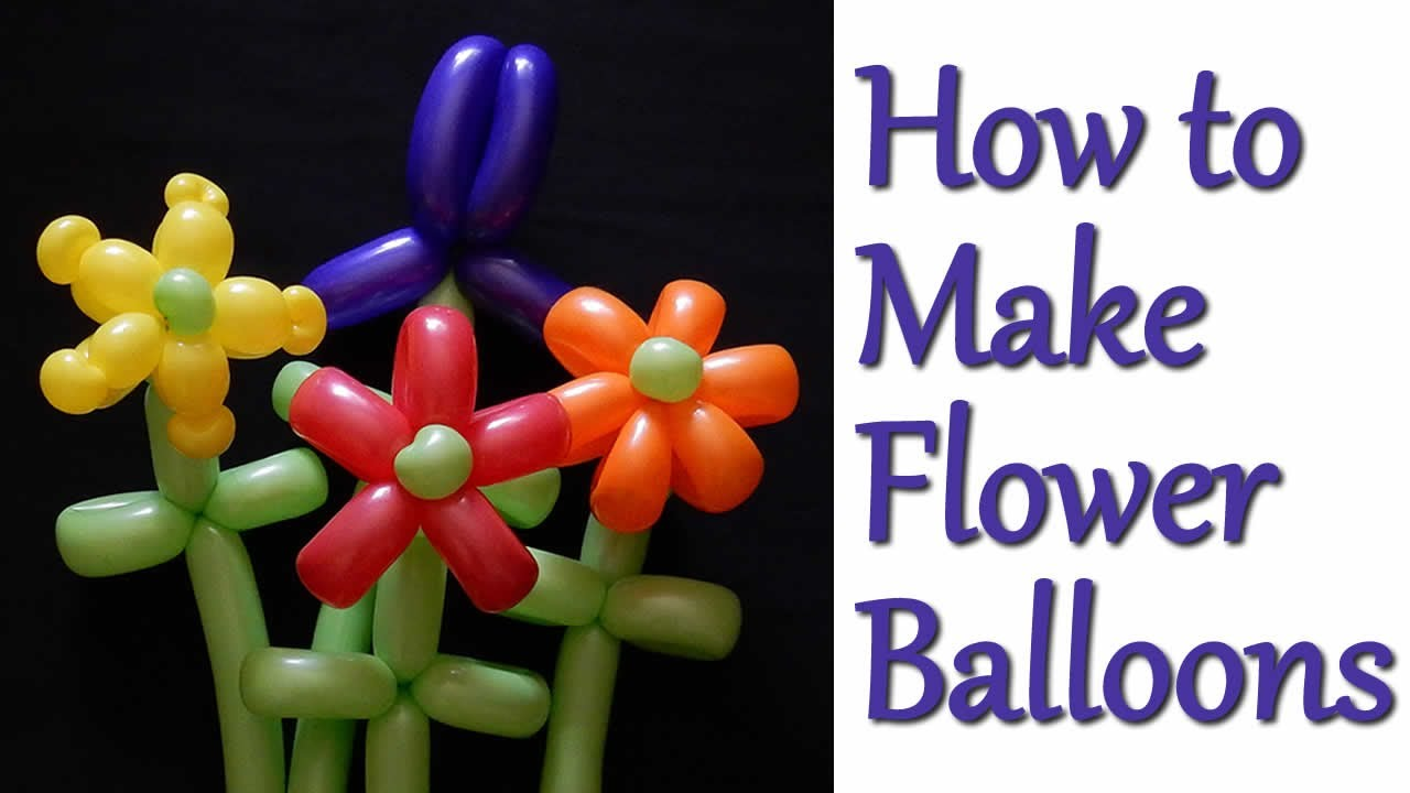 how to make four balloon flowers a beginner 39 s guide youtube. Black Bedroom Furniture Sets. Home Design Ideas