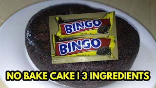 NO OVEN CHOCOLATE CAKE || Only 3 Ingredients ||