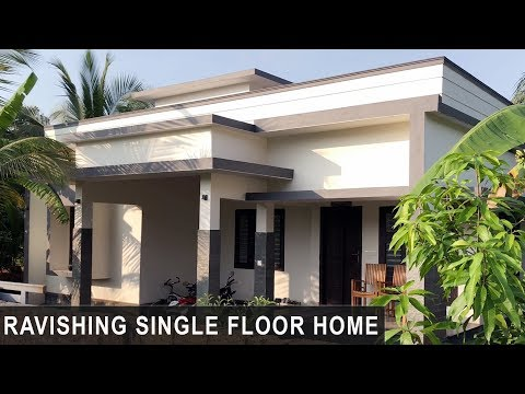 Ravishing single floor home design for 25 lakh with elegant interior | Video Tour