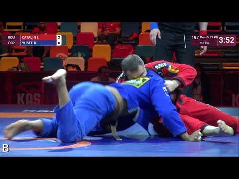 1/4 Men-Gi - 77 kg: I. CATALIN (ROU) v. K. YUSEF (ESP)