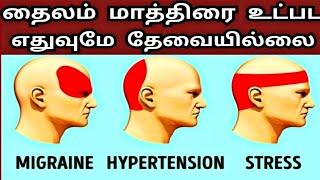 அதிசயம் ரெண்டே நிமிடத்தில் தலைவலிக்கு தீர்வு மருந்து தைலம் இல்லாமல்| Cure Headache without Medicines
