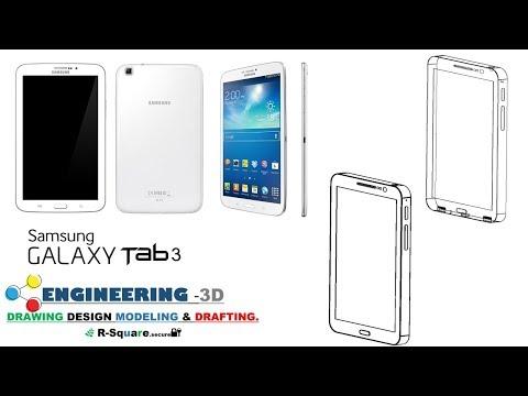 MOBILE-TAB  (SAMSUNG TAB 3) - SOLIDWORK's MODELLING.