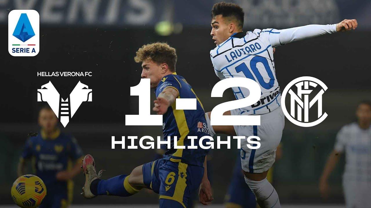 HELLAS VERONA 1-2 INTER   HIGHLIGHTS   SERIE A 20/21   Inter finish 2020 on  a high! 🥳⚫🔵 - YouTube