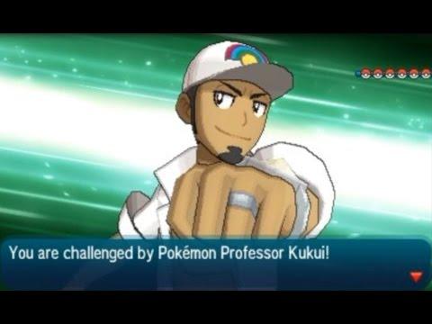 Pokémon Sun and Moon: VS Pokémon Professor Kukui