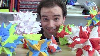 Étoiles géométriques en origami - Micmaths