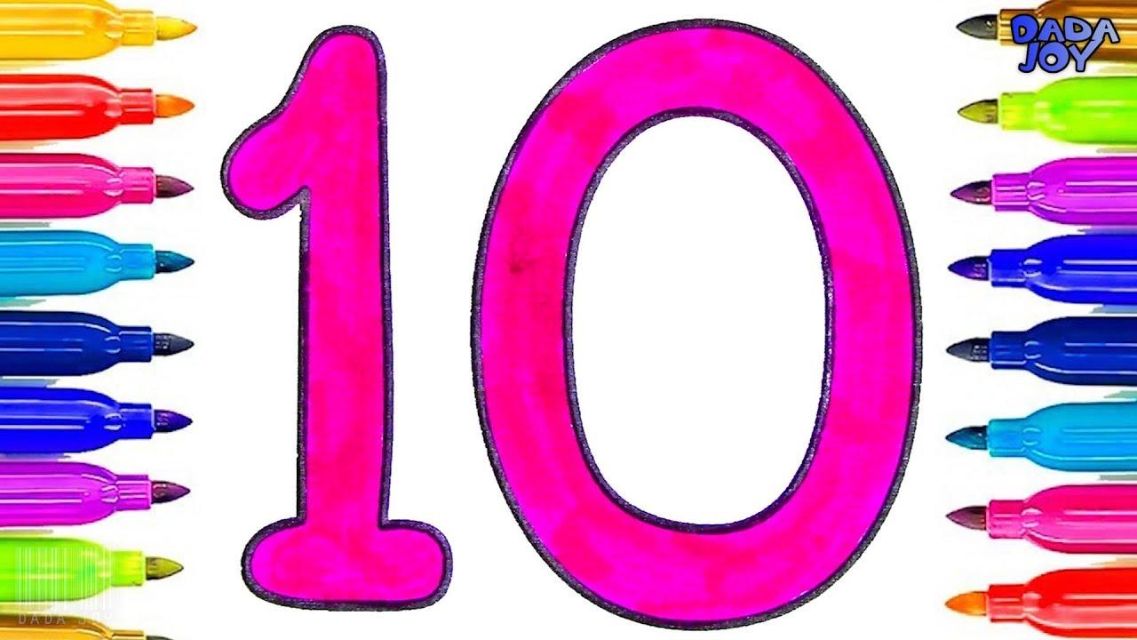 Aprender A Contar Del 0 Al 10 Numeros Para Ninos Aprende Colores