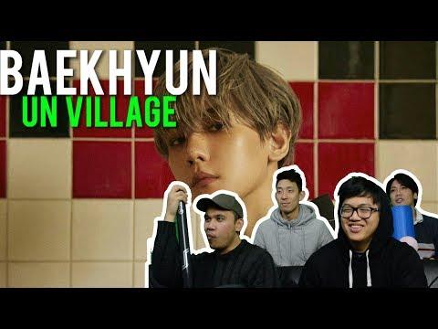 """백현 BAEKHYUN Chilling At The """"UN VILLAGE"""" (MV Reaction)"""