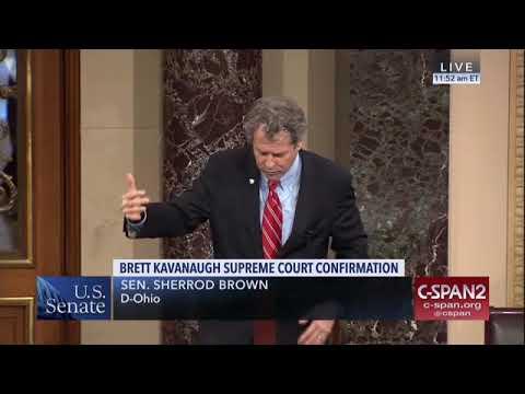 Sen. Sherrod Brown criticizes Brett Kavanaugh's record, FBI investigation: Watch his speech