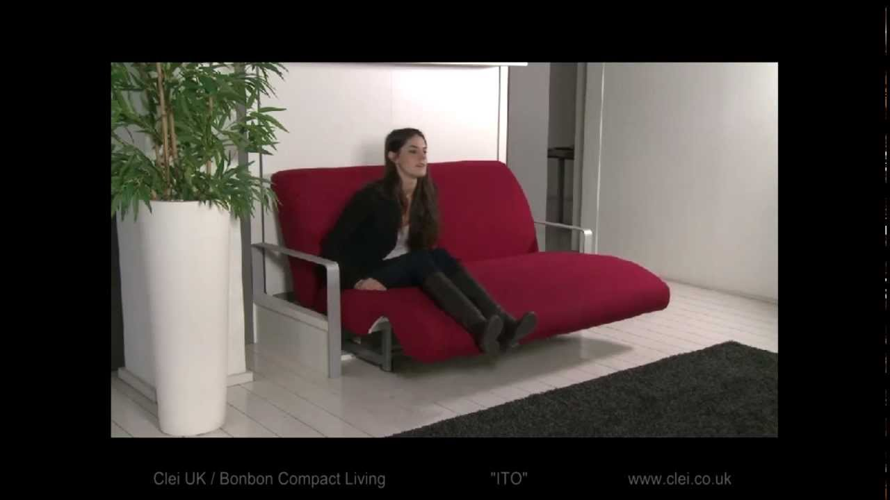 Clei UK   Ito Sofa Wall Bed System   YouTube