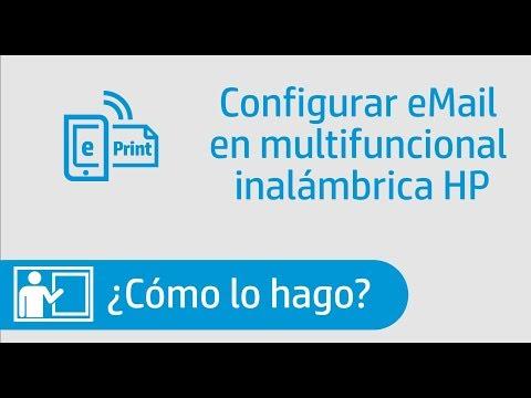 Cómo configurar correo o email de ePrint en impresora HP