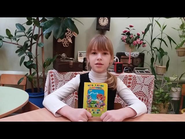 Изображение предпросмотра прочтения – АнастасияБруева читает произведение «Что такое хорошо и что такое плохо» В.В.Маяковского