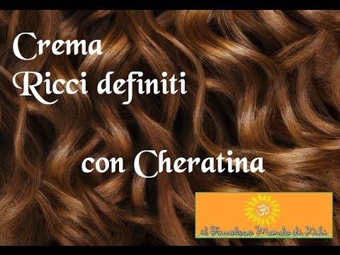 Crema Ricci Definiti Con Cheratina Fatta In Casa Con Ingredienti Naturali