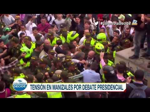 Debate presidencial en Manizales terminó realizándose a puerta cerrada