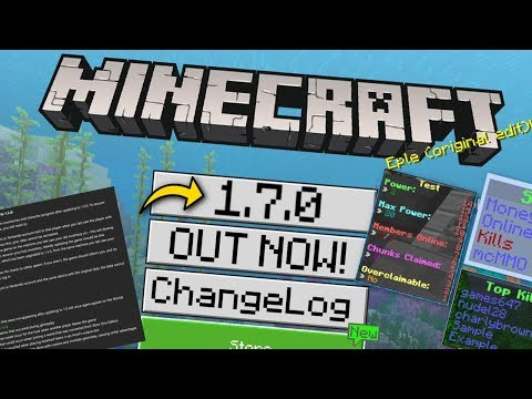 Minecraft - 1.7. OUT NOW !! Scoreboards & Food [ Change Log ] MCPE / Xbox / Switch / Bedrock