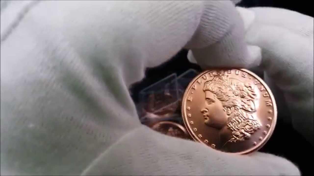1 oz Copper Round Morgan Dollar