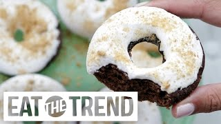 S'mores Baked Donuts | Eat The Trend