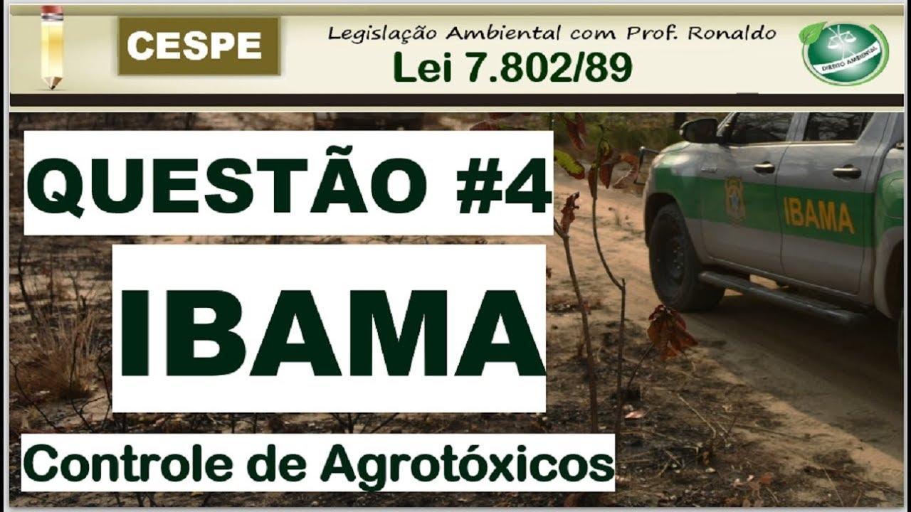 Concurso IBAMA: Questão comentada de Analista Ambiental - CESPE