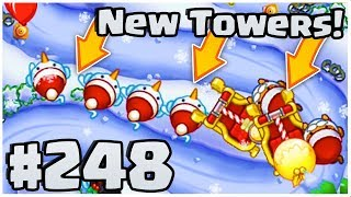 Brand New TOWERS & MAPS! - HUGE Christmas Update - Bloons TD Battles Part 248