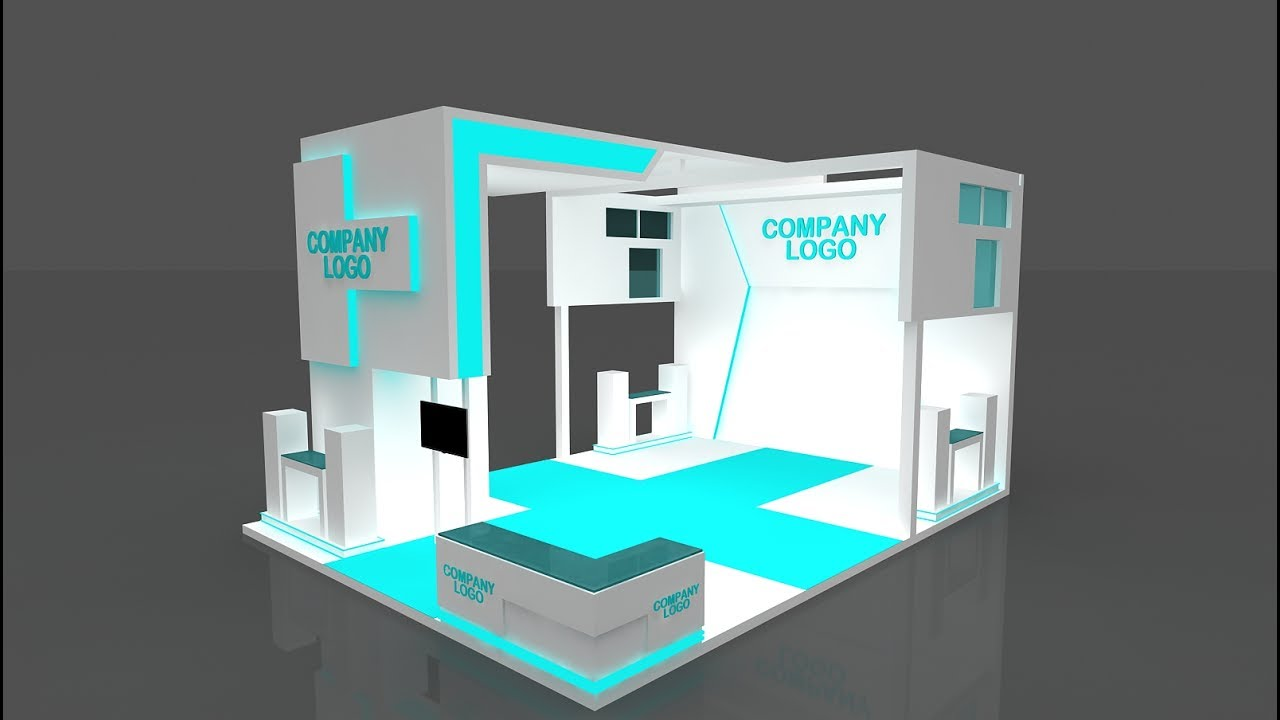 Exhibition Stall Making : Make exhibition stall in ds max youtube