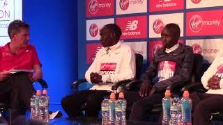 Eliud Kipchoge at 2018 London Marathon press conference