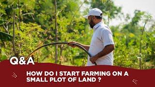 How do i stąrt farming on a small plot of land ?.