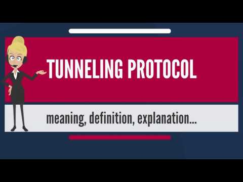 What is TUNNELING PROTOCOL? What does TUNNELING PROTOCOL mean= TUNNELING PROTOCOL meaning