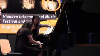 Brielle Perez & Aisha Han, perform Mendelssohn Op.83a Andante Con Variazioni for four hands.