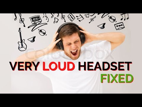 How To Fix a Very Loud USB Headset