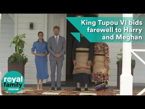 Tonga's King Tupou VI bids farewell to Prince Harry and Meghan