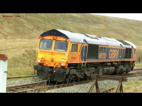 Stone Train at Blea Moor, on the Settle and Carlisle.