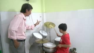 Lớp dạy đánh Trống Jazz mùa hè cho học sinh TP HCM.Thầy Đức 0918114841
