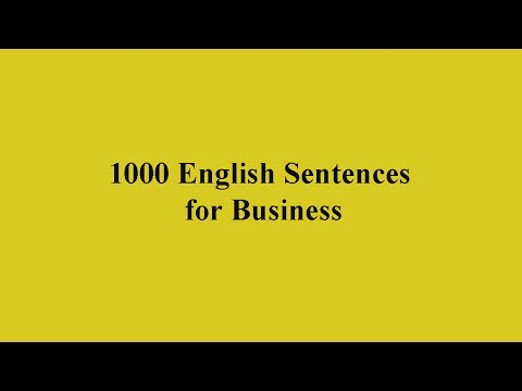 1000 English Sentences for Business