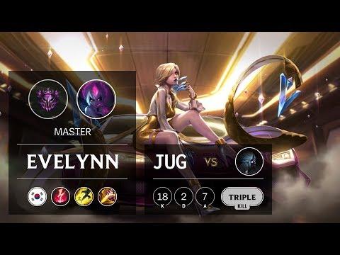 Evelynn Jungle vs Kindred - KR Master Patch 9.10