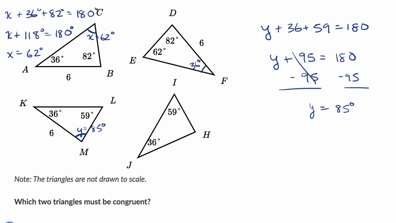 Determining Congruent Triangles Example Youtube