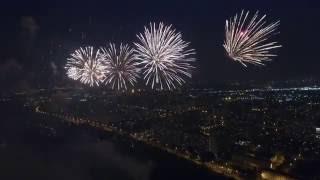 Фестиваль фейерверков в Москве 24.07.2016  с квадрокоптера
