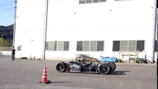 ゼロヒャク2秒を狙うアスパークのモンスターEV「アウル」の加速テスト(1本目)