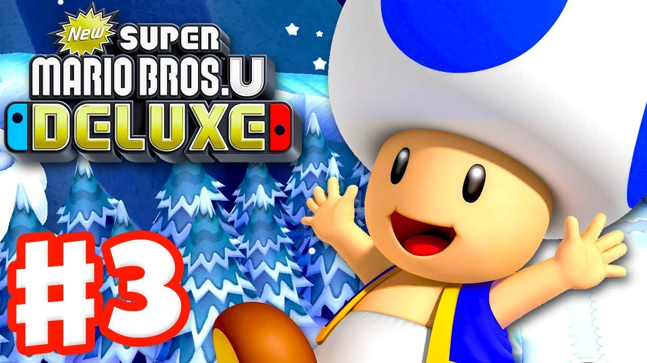 New Super Mario Bros U Deluxe - Gameplay Walkthrough Part 3 - Frosted  Glacier! (Nintendo Switch)