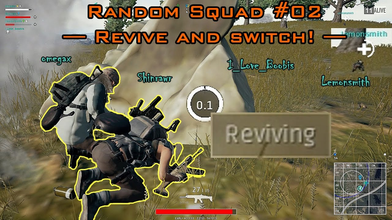 Pubg Random Squad 02 Revive And Switch Youtube