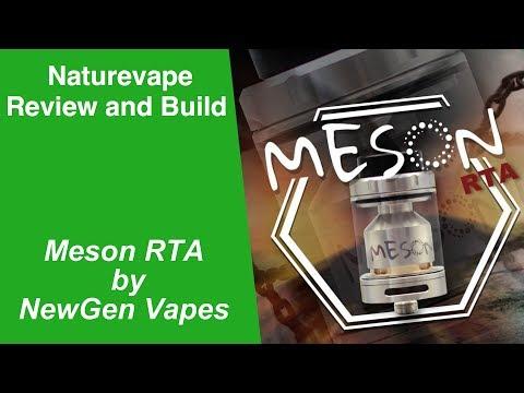 Meson RTA by NewGen Vape - Review & Build - hmong video