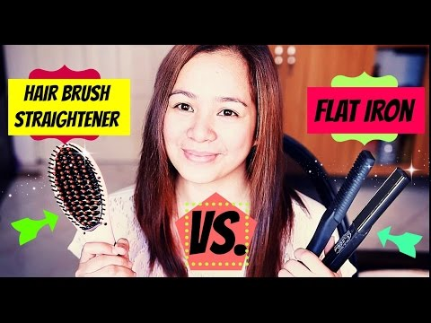 Hair Brush Straightener VS Flat Iron-DOES IT WORK? WHICH IS BETTER?  Beautyklove