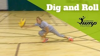 How to roll and dig every ball without hurting yourself - Volleyball Tip of the Week #33